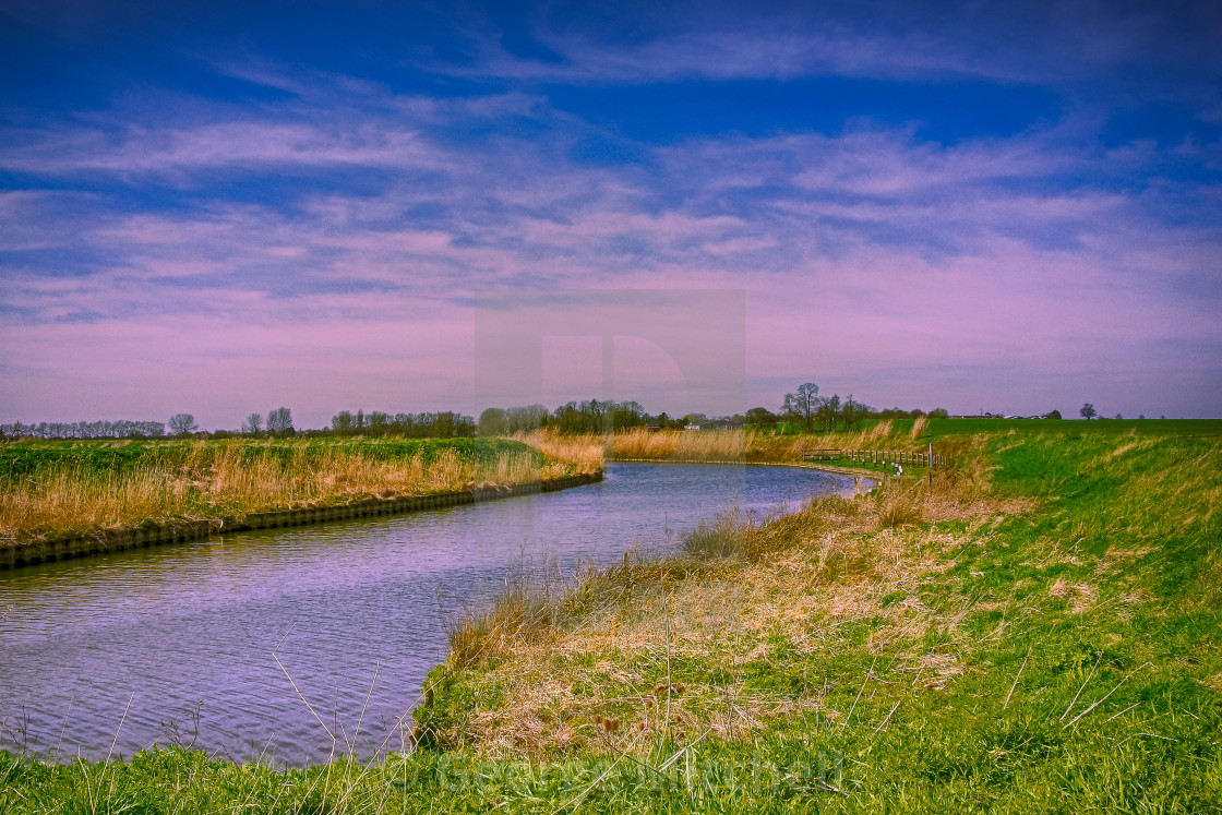 """""""The Old West river in Cambridgeshire"""" stock image"""