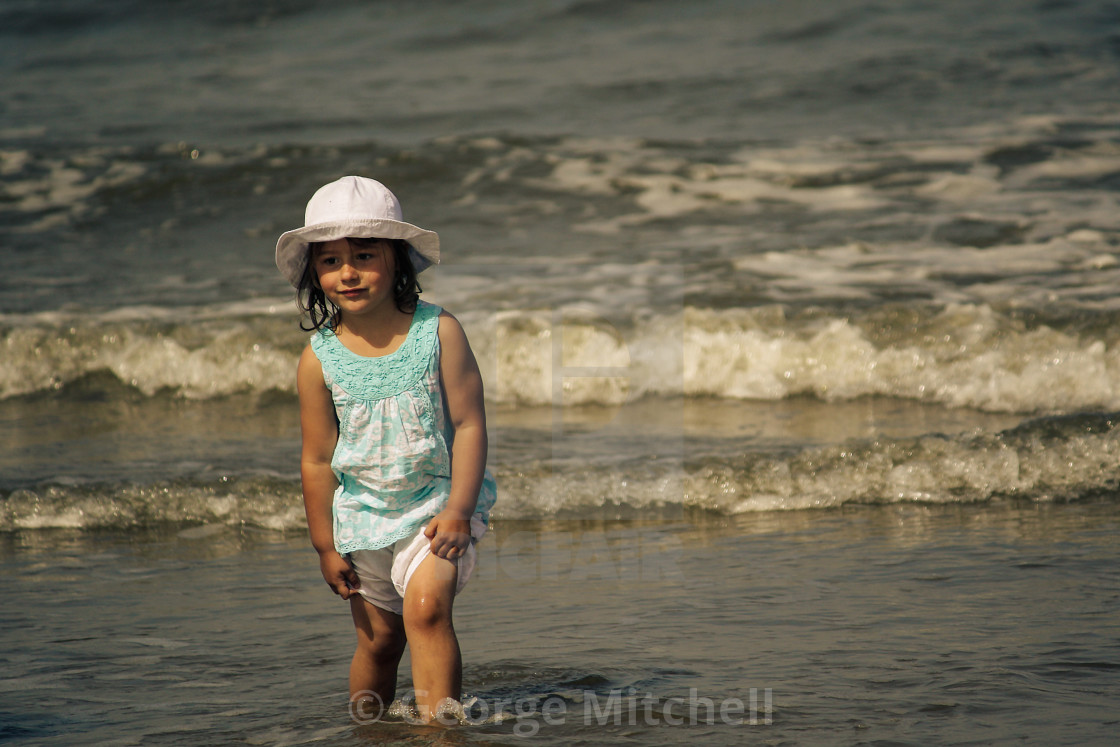 """""""Young Girl at the seaside"""" stock image"""