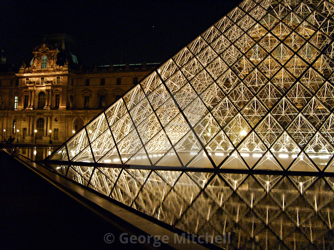 """""""The Louvre in Paris, France"""" stock image"""