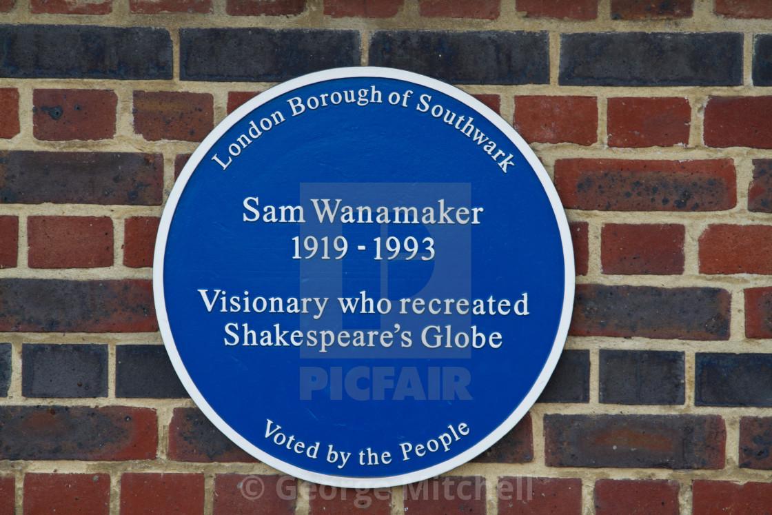 """""""Sam Wanamaker"""" stock image"""