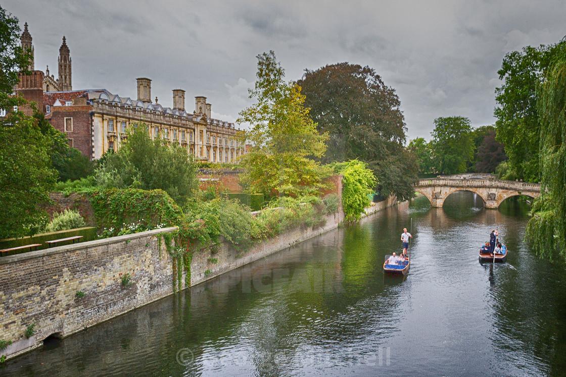 """Trinity College from Trinity Bridge"" stock image"