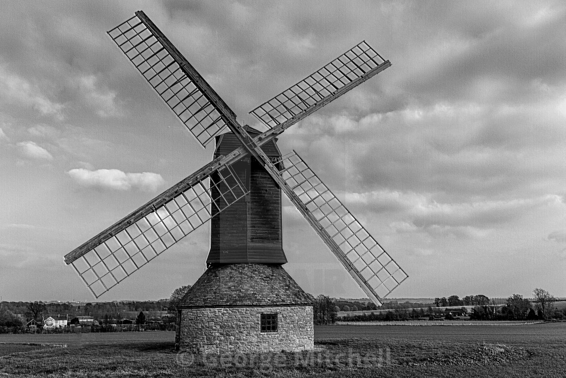 """Postmill in Black and White"" stock image"