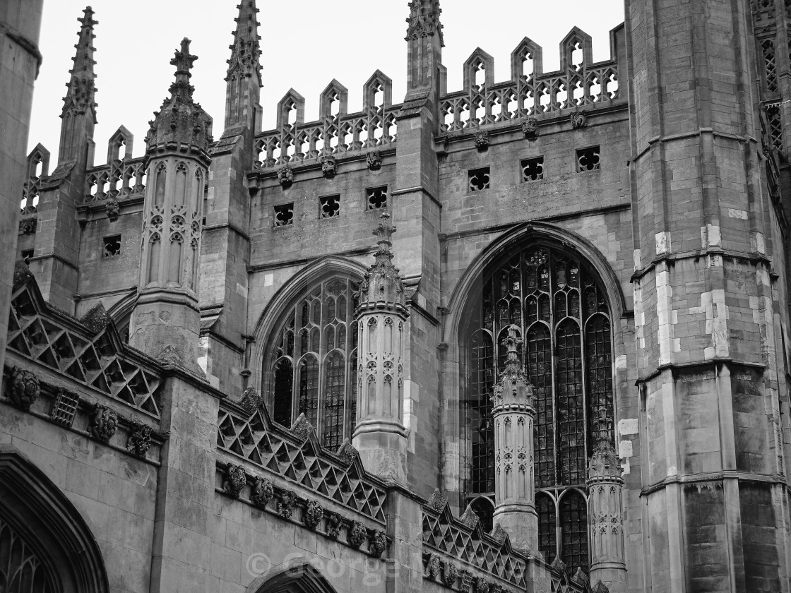 """Kings College and Chapel"" stock image"