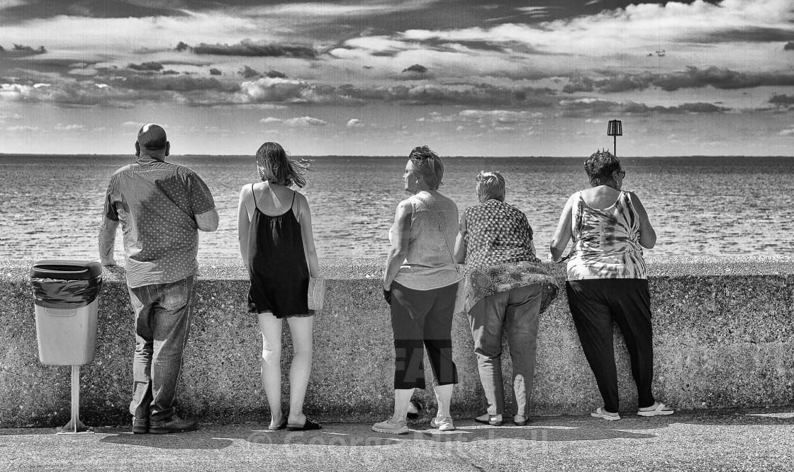 """Taking the air in Hunstanton"" stock image"