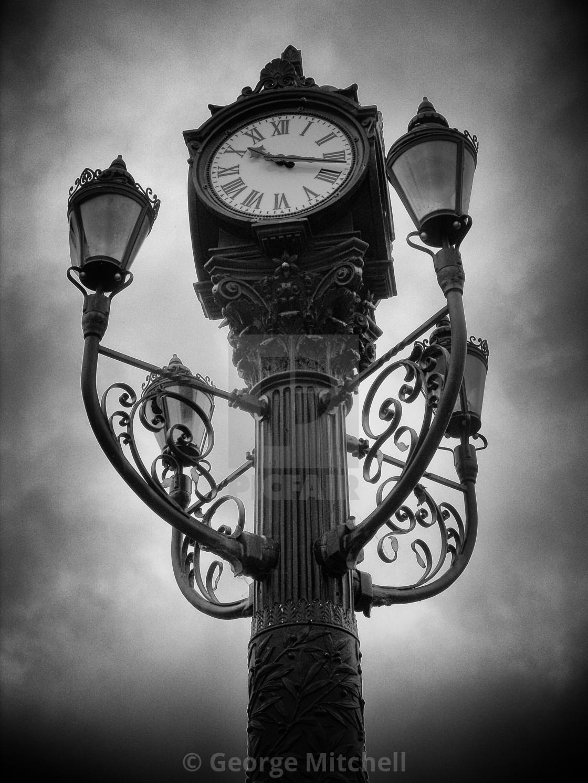 """Victorian Street Clock"" stock image"
