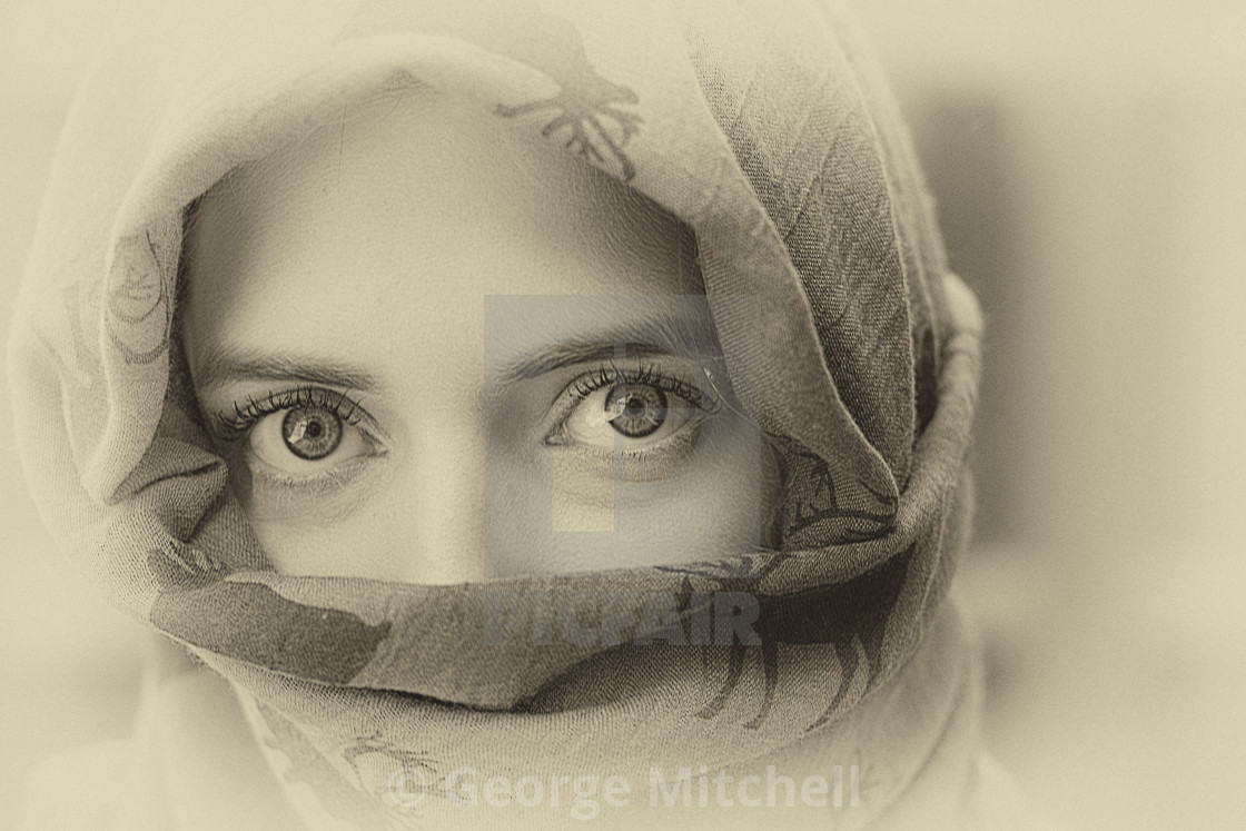 """""""Young Lady's Eyes"""" stock image"""
