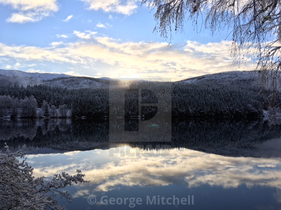 """""""View of The Scottish Highlands"""" stock image"""