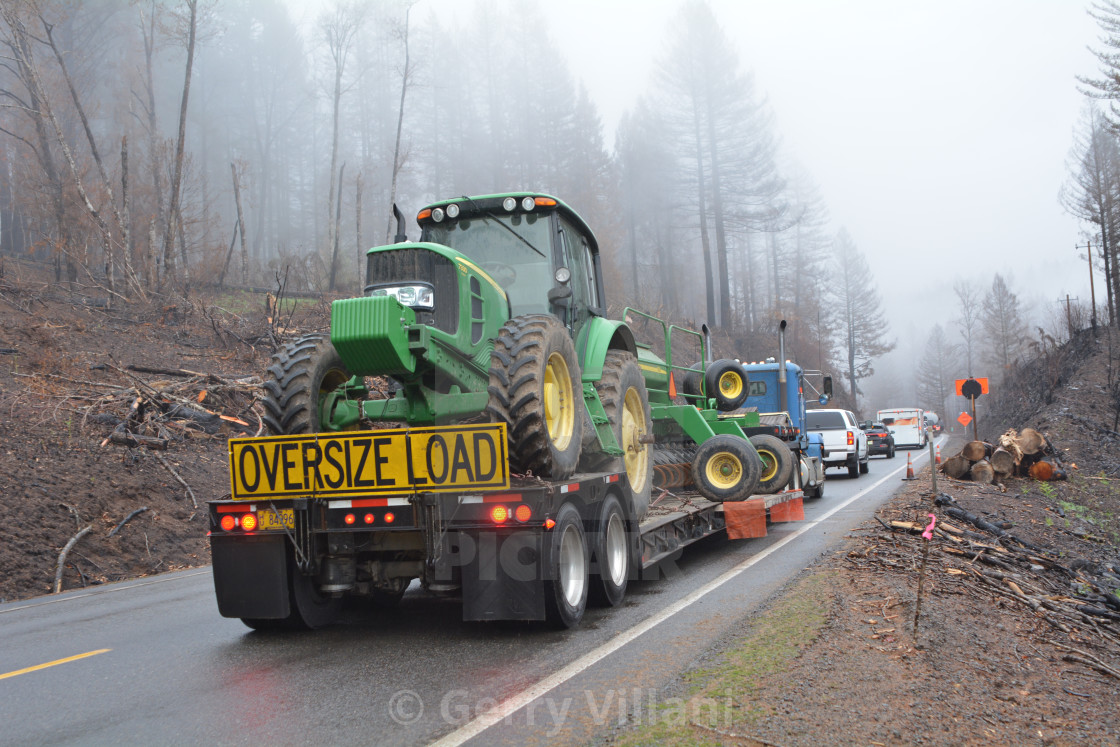"""Traffic on Hwy 22 East in Oregon"" stock image"