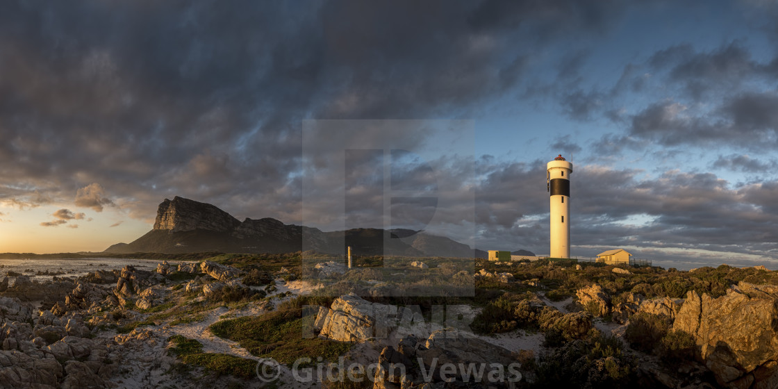 """Hangklip Lighthouse Sunset"" stock image"
