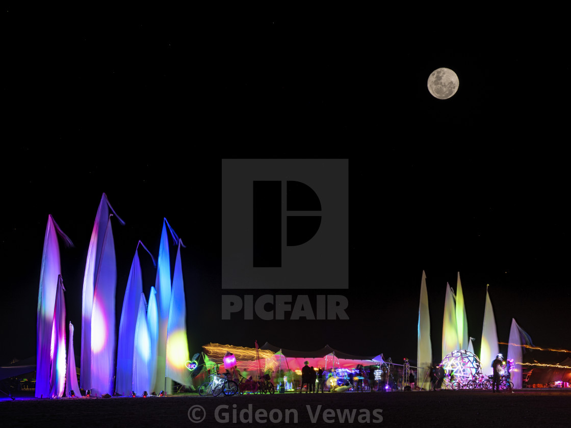 """""""full moon and play"""" stock image"""
