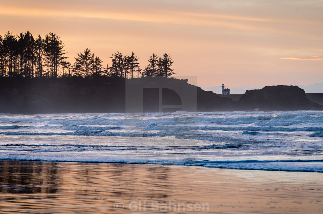 """Oregon Coast Sunset"" stock image"