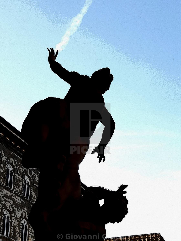 """""""Piazza della Signoria a Firenze"""" stock image"""
