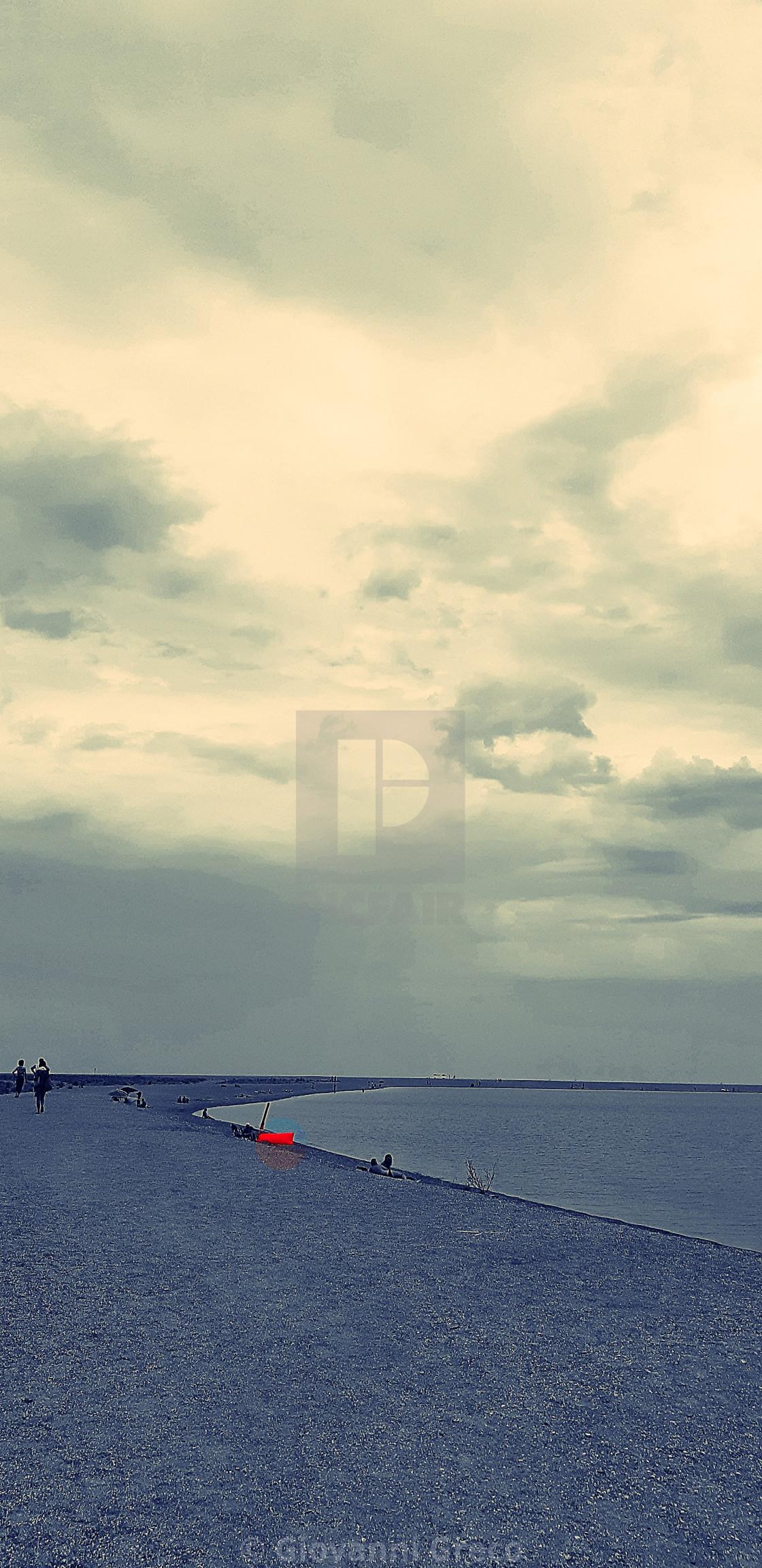 """""""mattino sulla spiaggia"""" stock image"""