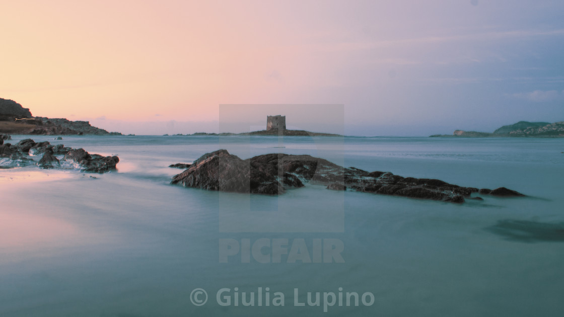"""La Pelosa's sunset"" stock image"