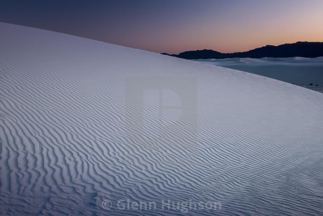 """""""Desert Twilight"""" stock image"""