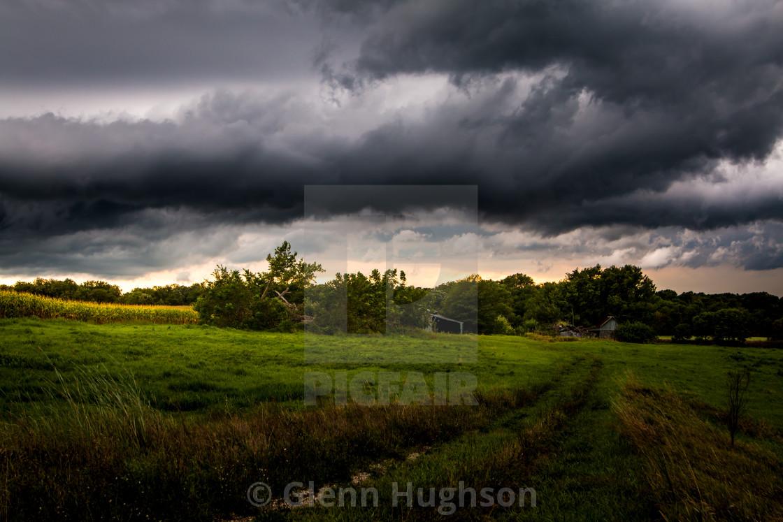 """Farmland Storms"" stock image"