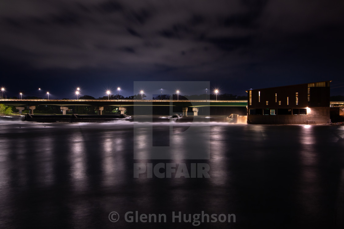 """A Dam Night Shot"" stock image"