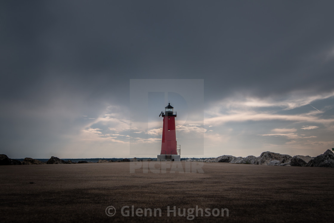 """An Upper Michigan Lighthouse"" stock image"