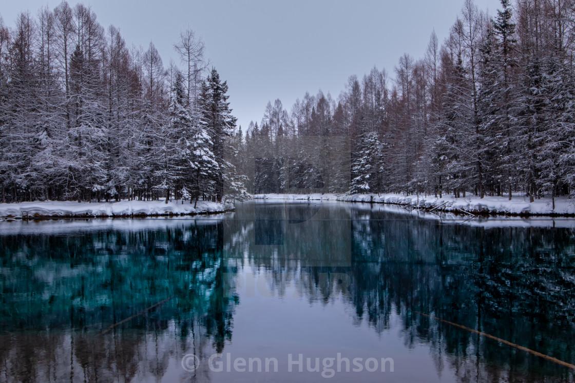 """""""Kitch-iti-kipi Winter"""" stock image"""