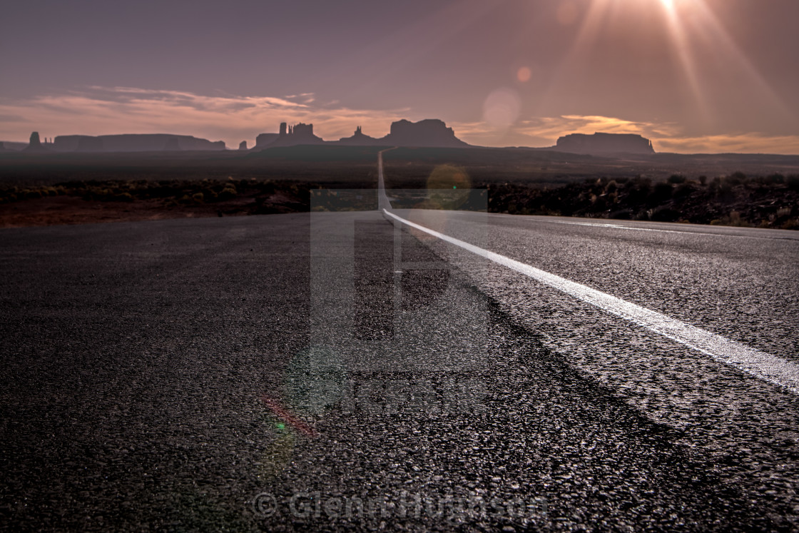"""""""Leaving Monument Valley"""" stock image"""