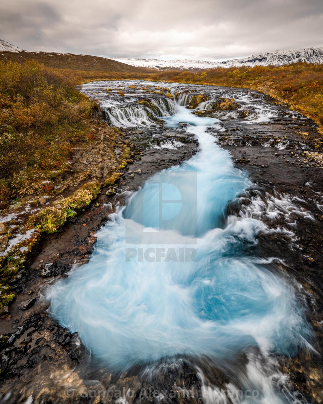 """Iceland Bruarfoss Swirl"" stock image"