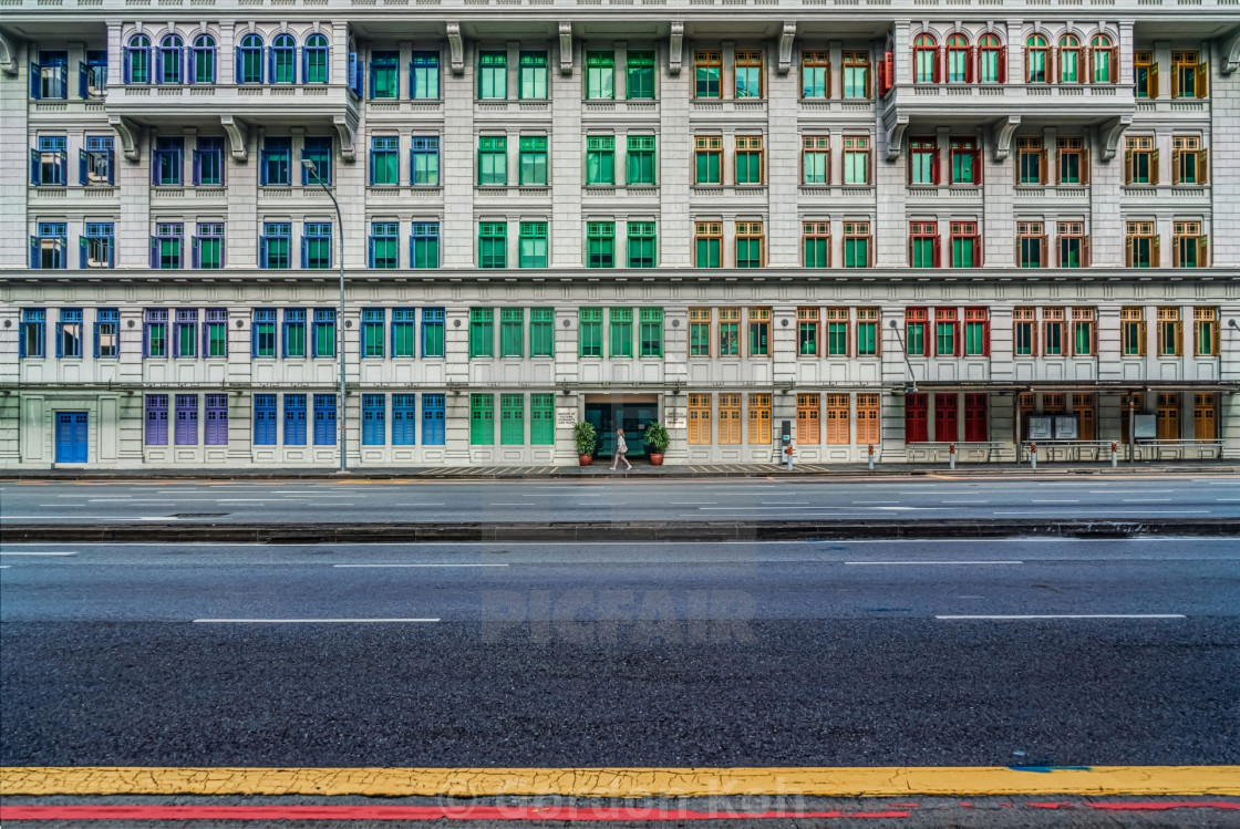 """Colorful windows"" stock image"