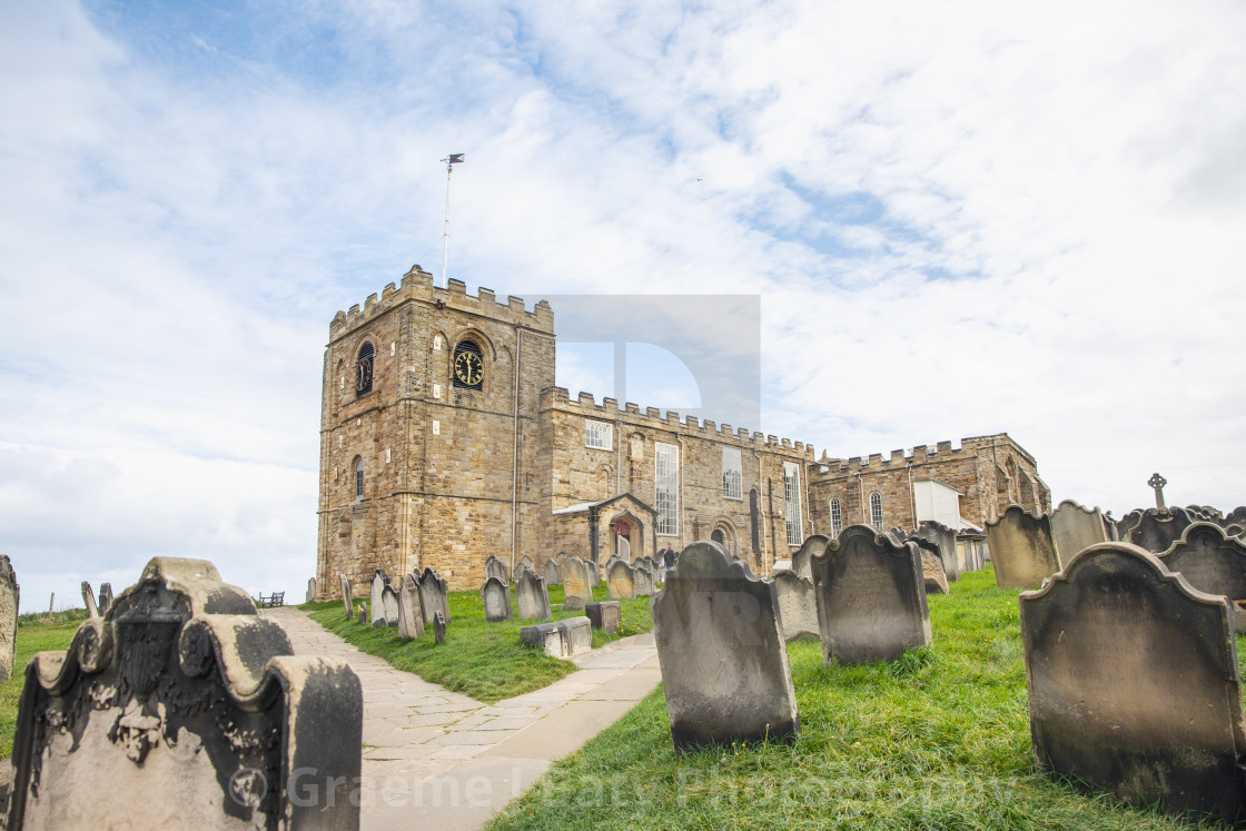 """Whitby St Marys Church"" stock image"