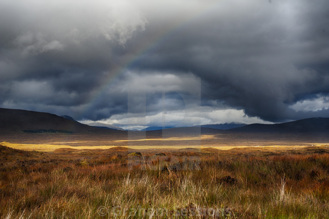 """Highland Rainbow"" stock image"