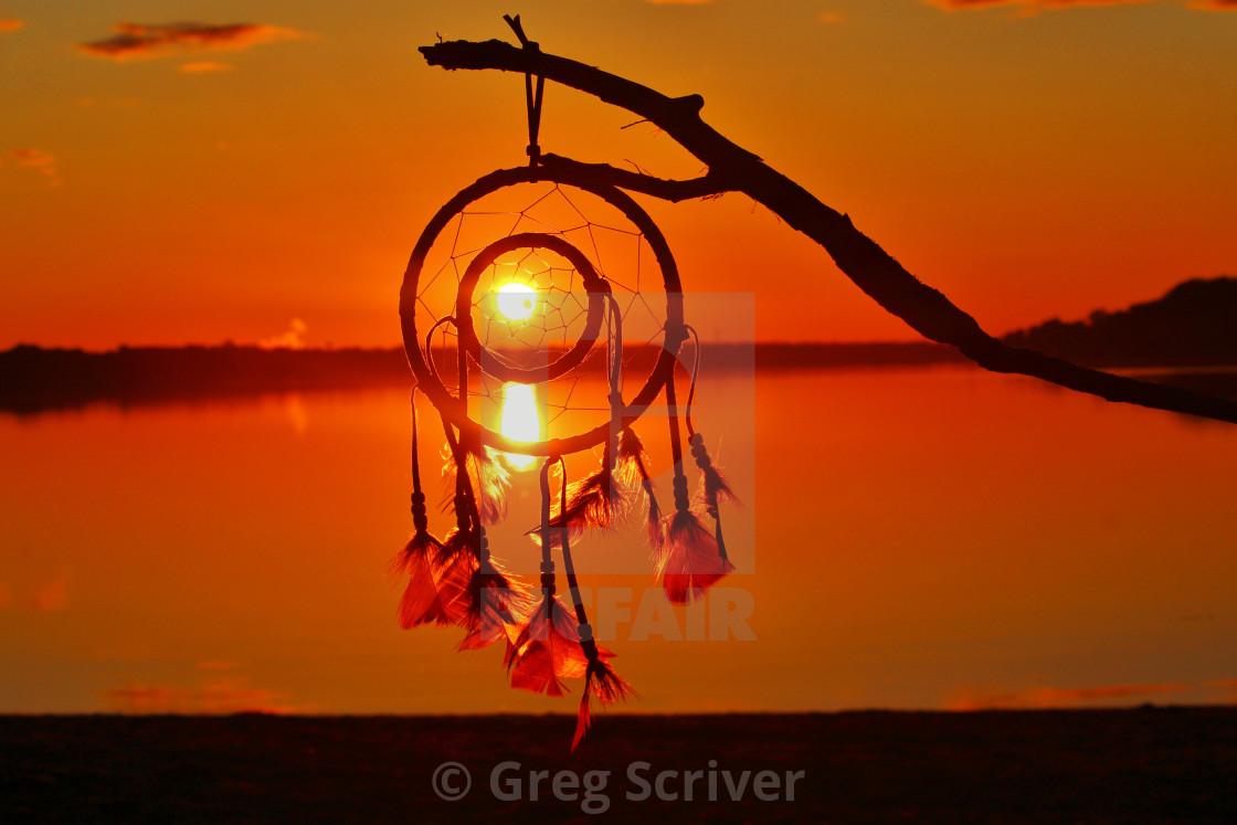 """Dream Catcher Sunrise"" stock image"