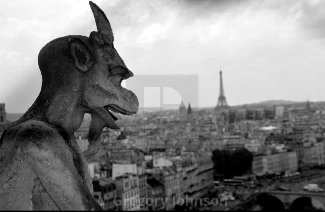 """Gargoyle in Paris"" stock image"