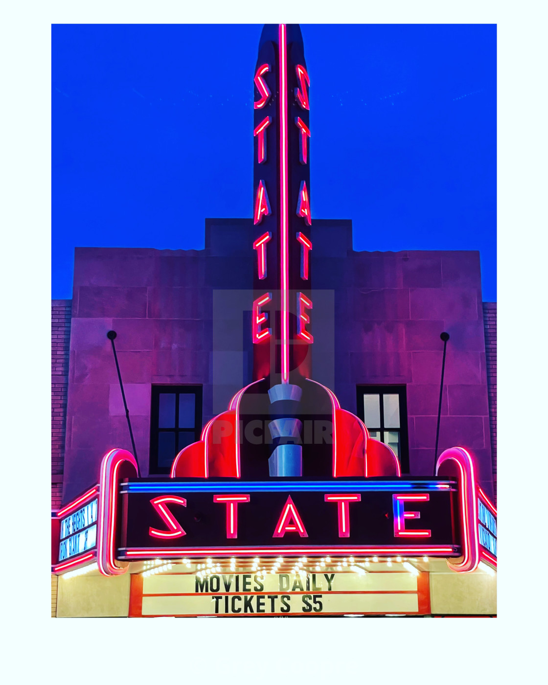 """""""Movie Theater in Ely, Minnesota"""" stock image"""