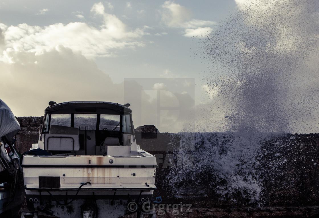 """Haunted Boat"" stock image"