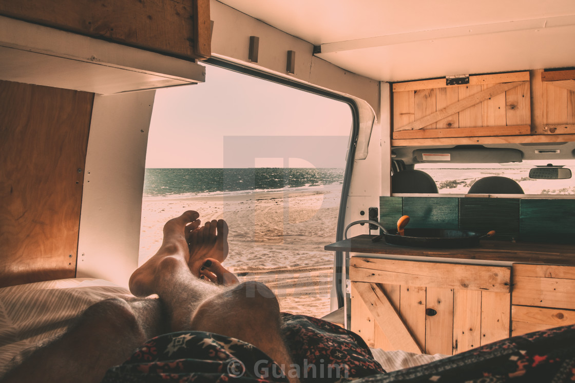 """Lazy Afternoon by the beach"" stock image"