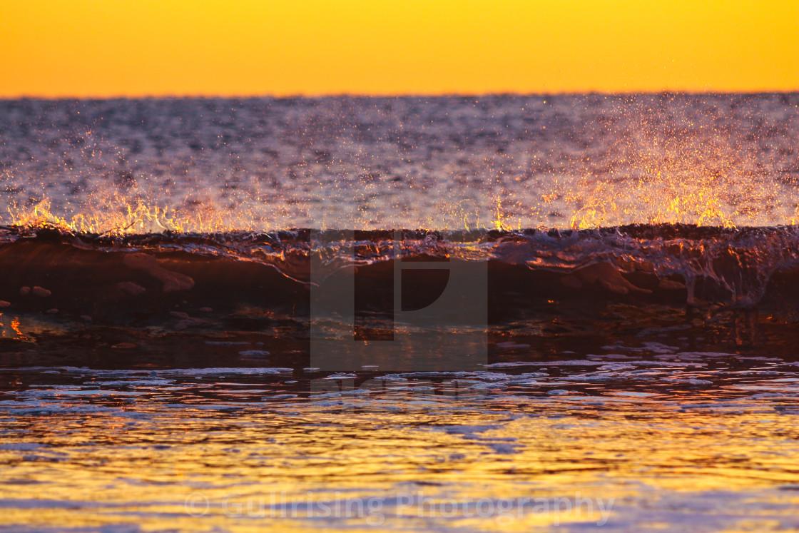 """Golden Wave"" stock image"