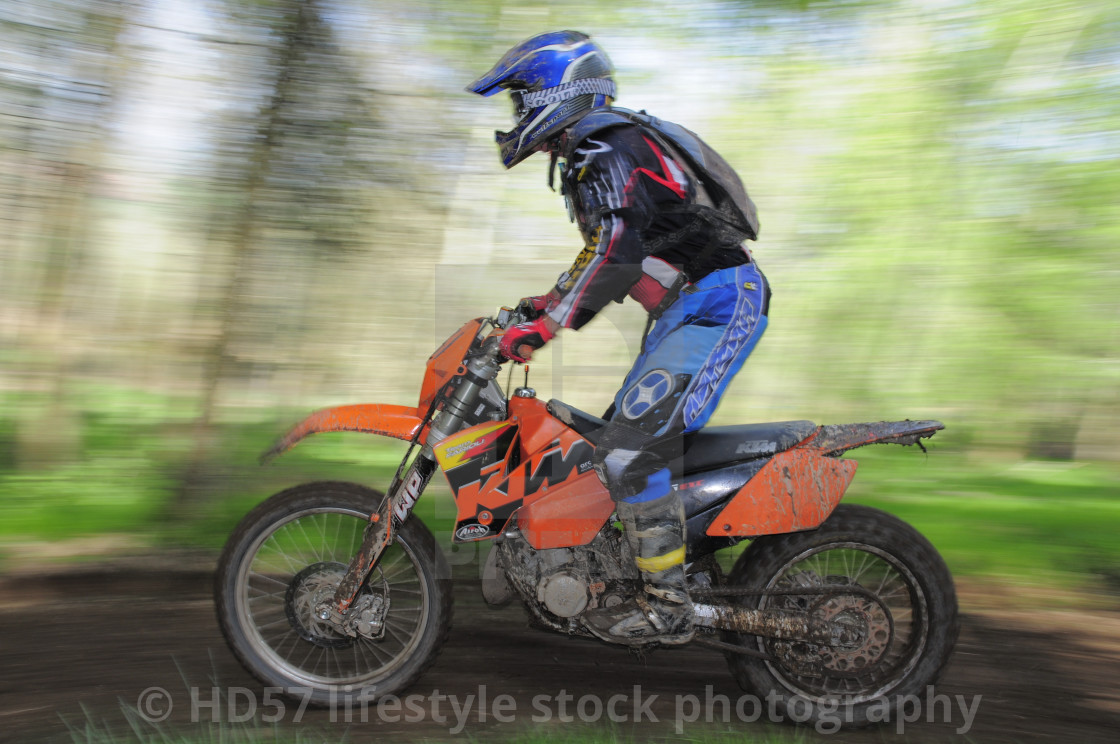 """""""Motocross rider in action"""" stock image"""
