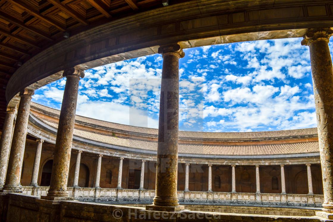 """""""Charles Court, Granada"""" stock image"""