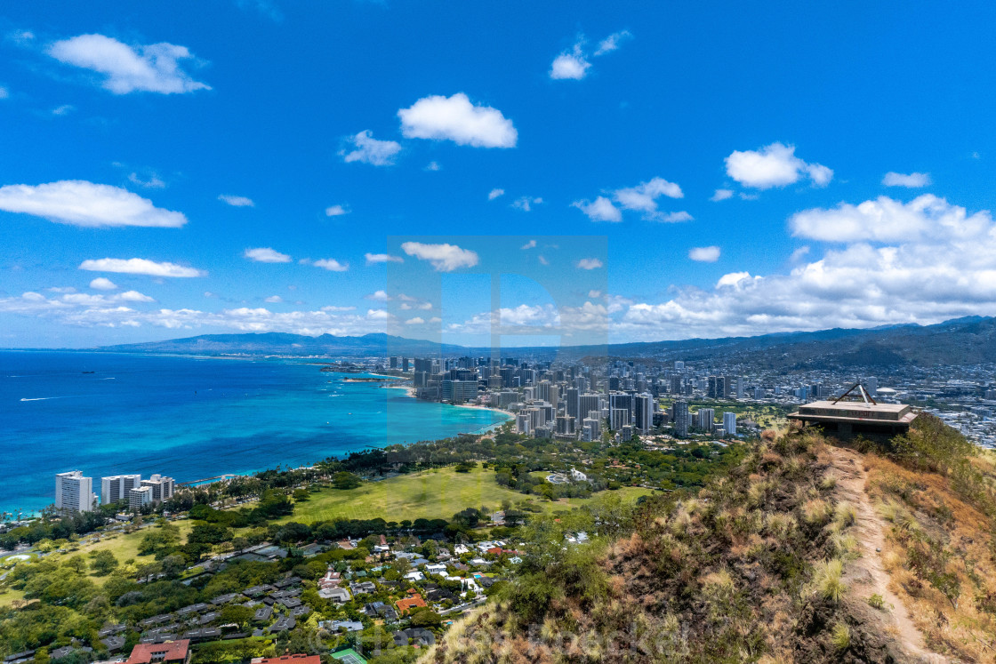 """""""Honolulu from above"""" stock image"""
