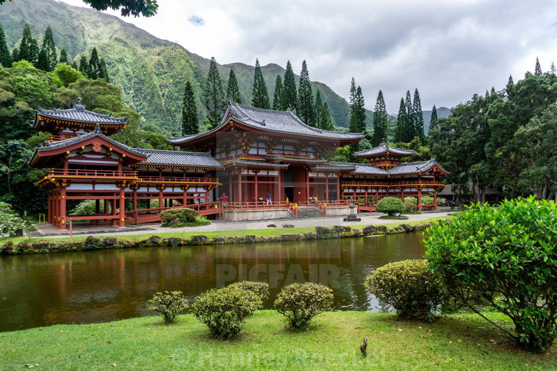 """Japanese Tempel on Hawaii"" stock image"
