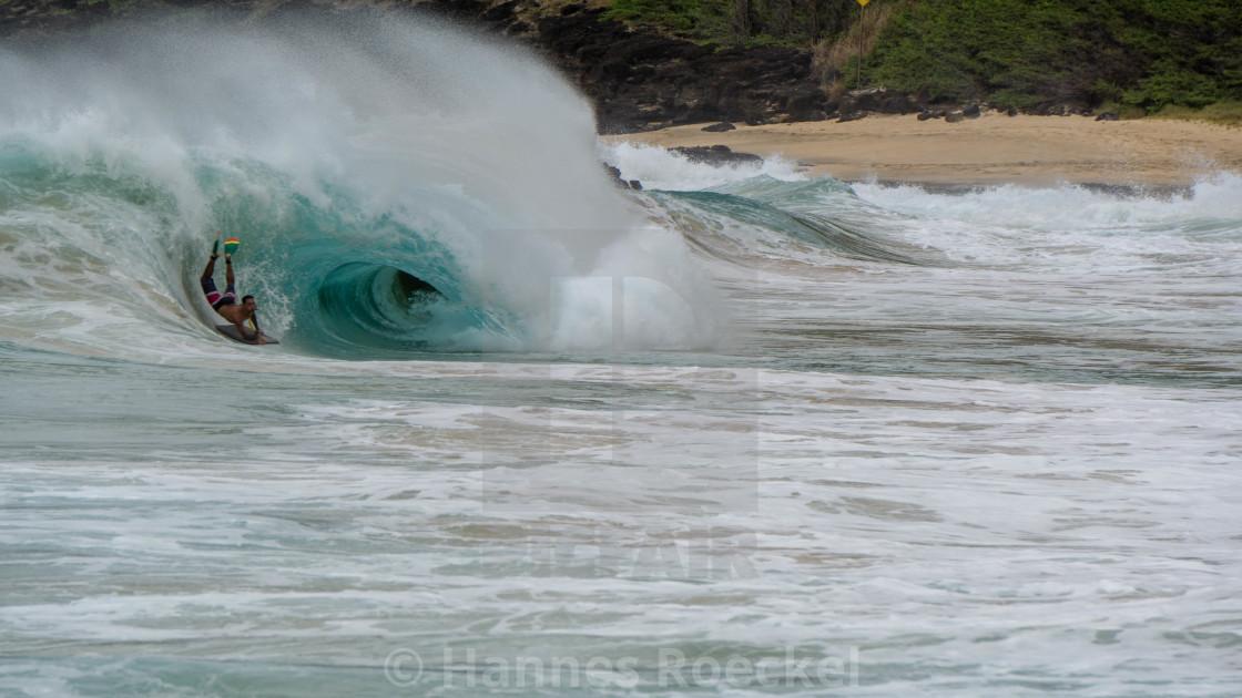 """Waves on Hawaii"" stock image"