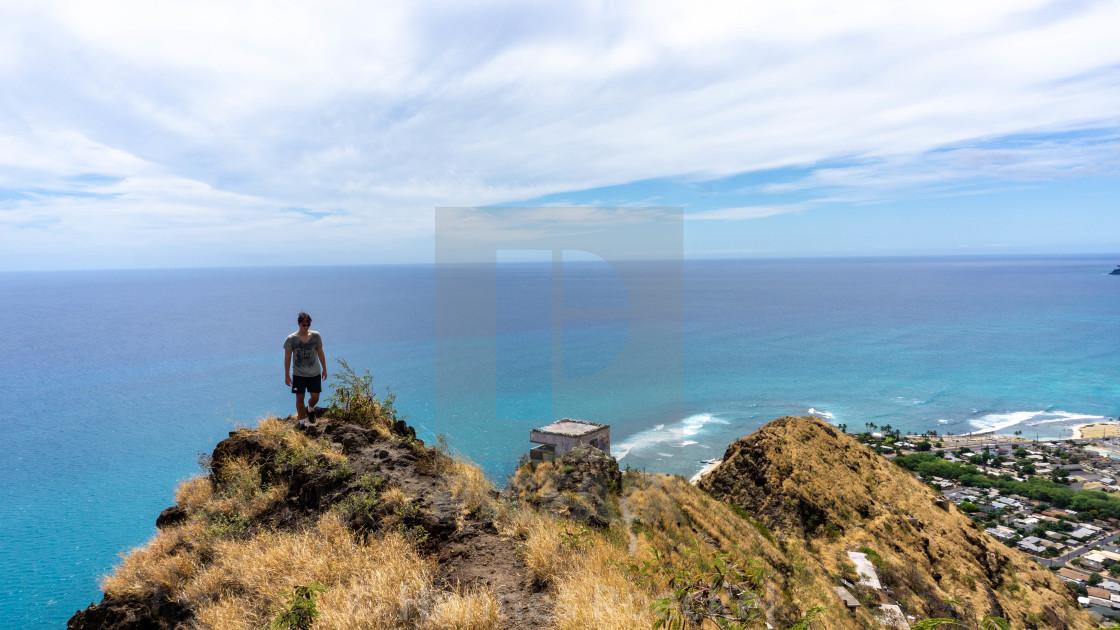 """""""Hiking in Hawaii"""" stock image"""
