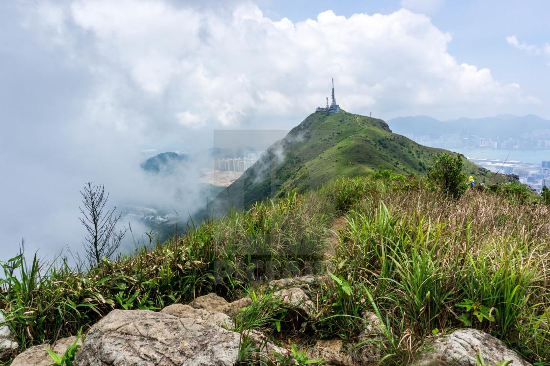 """""""Lush mountains in Hong Kong"""" stock image"""