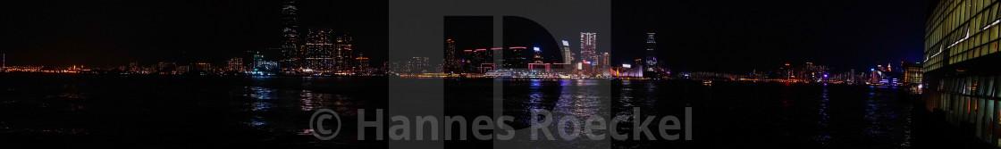 """""""Hong Kong skyline at night"""" stock image"""