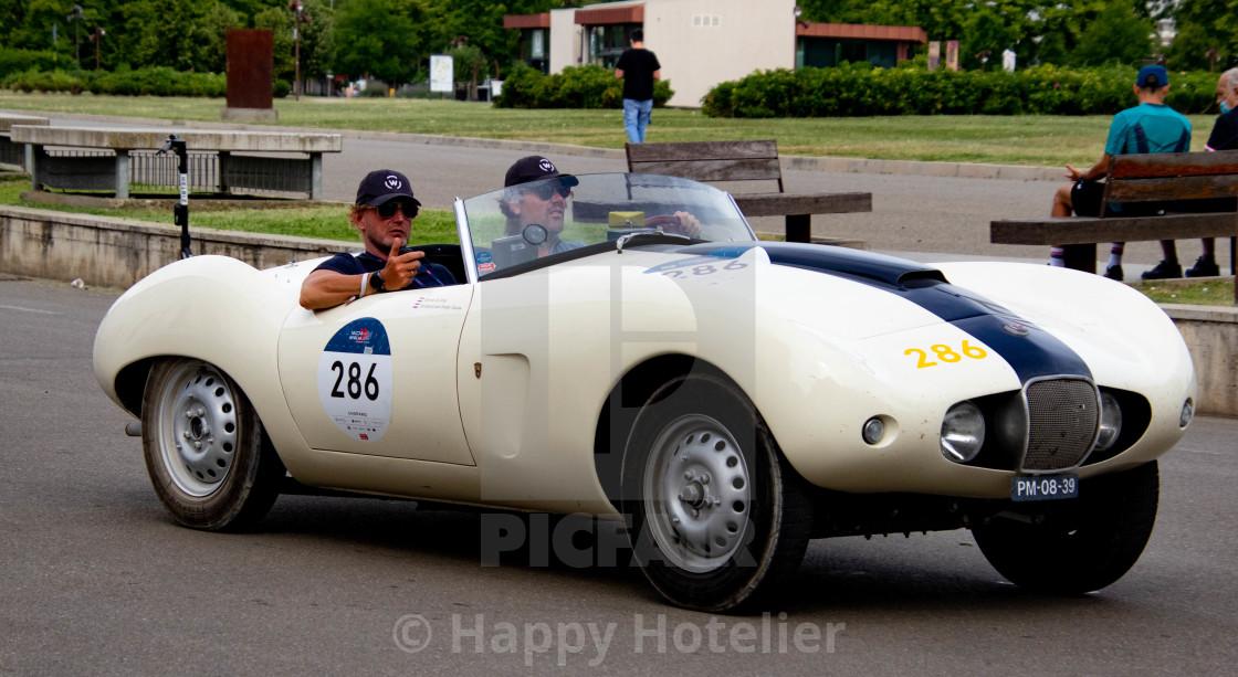"""Pins Bernhard van Oranje in the 2021 Mille Miglia"" stock image"