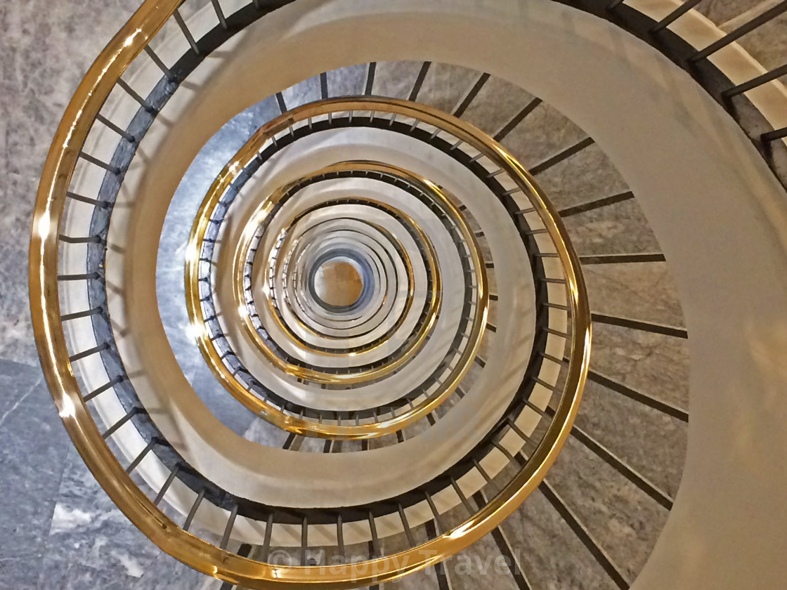 """""""Spiral staircase, indoor"""" stock image"""