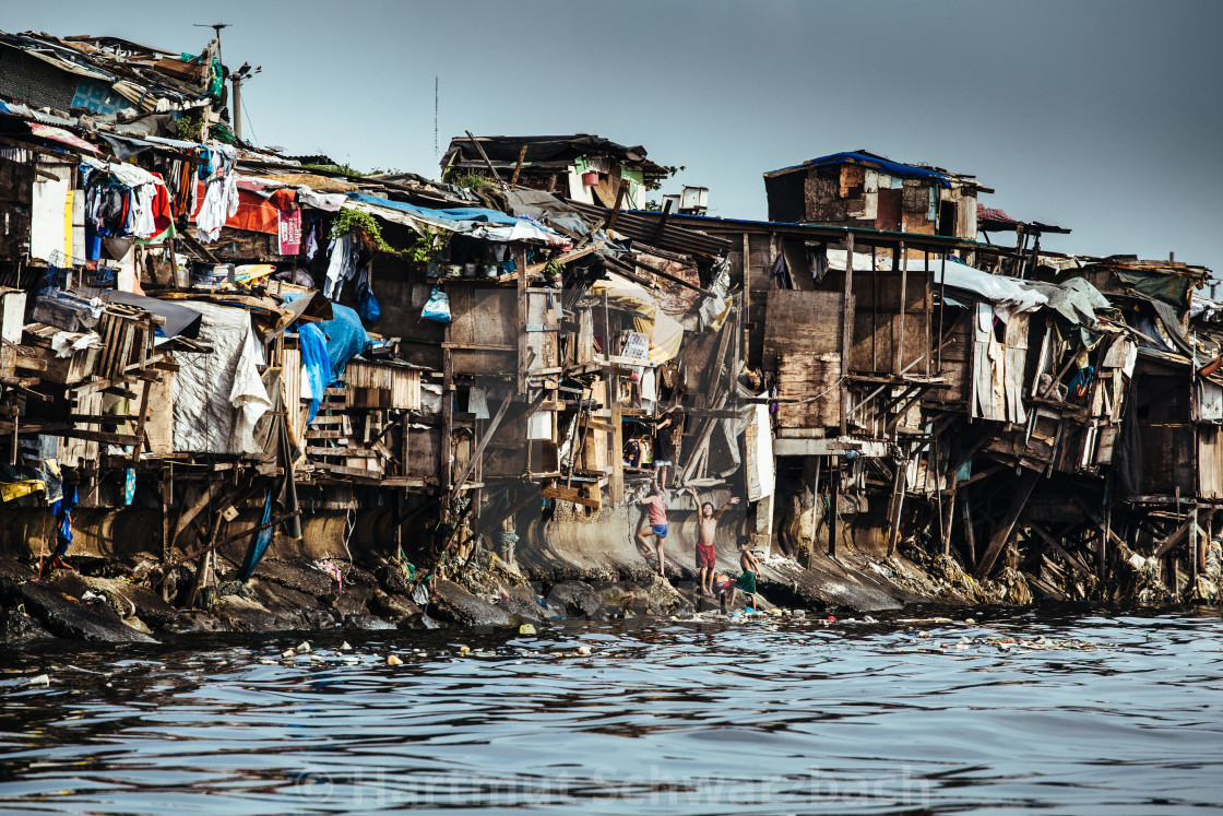 """""""Floating Kids Manila"""" stock image"""