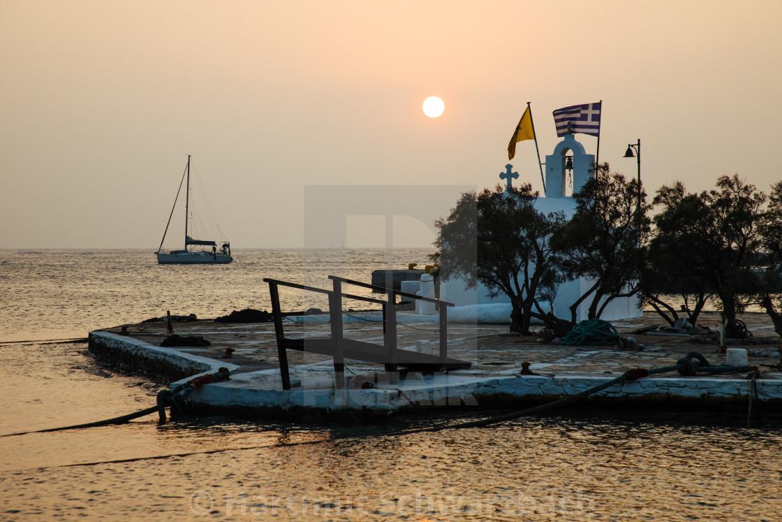 """Naxos Stadt, Chora"" stock image"
