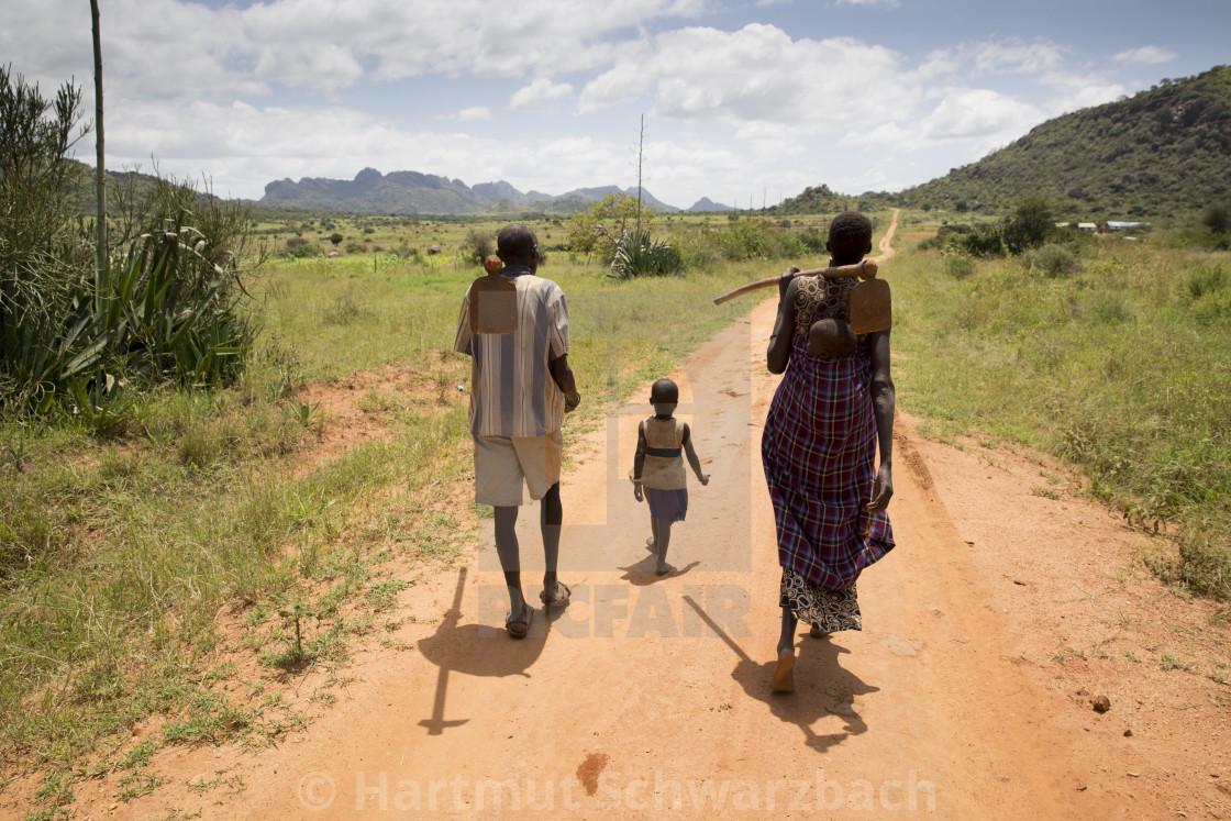 """""""Farmers in Uganda"""" stock image"""