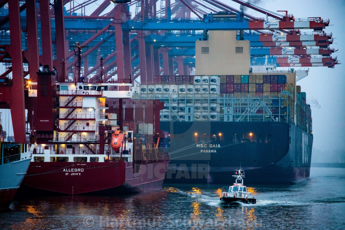 """""""Containerschiffe am Eurogate"""" stock image"""
