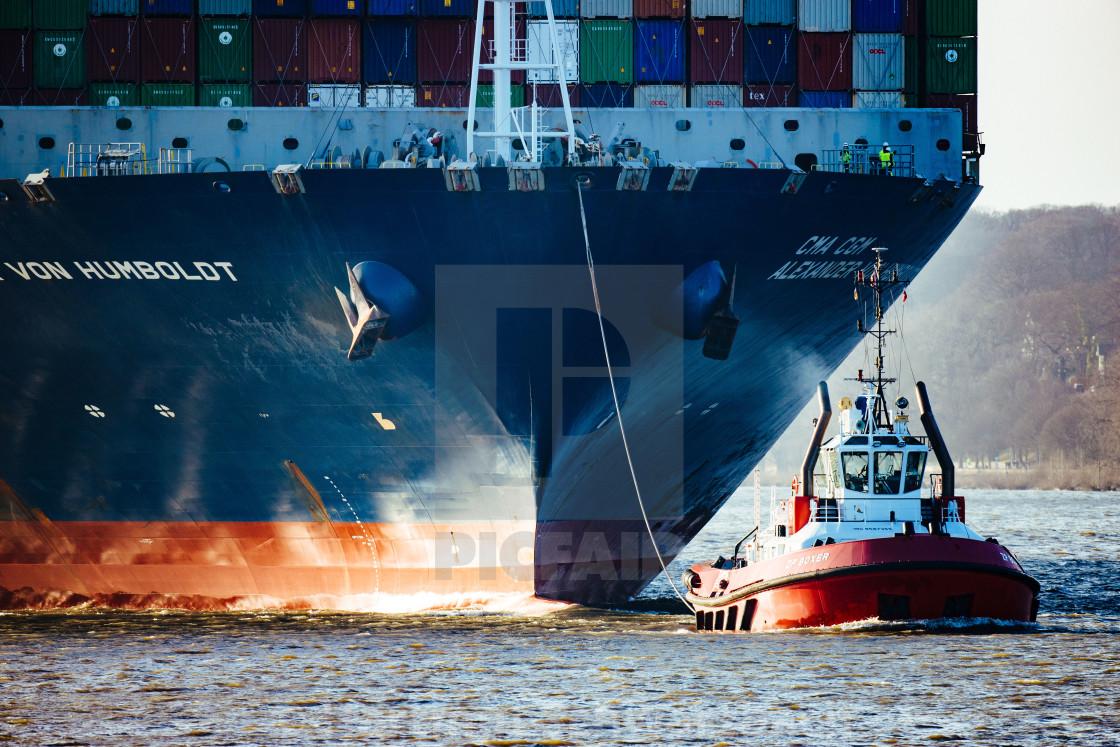 """CMA CGM Alexander von Humboldt"" stock image"