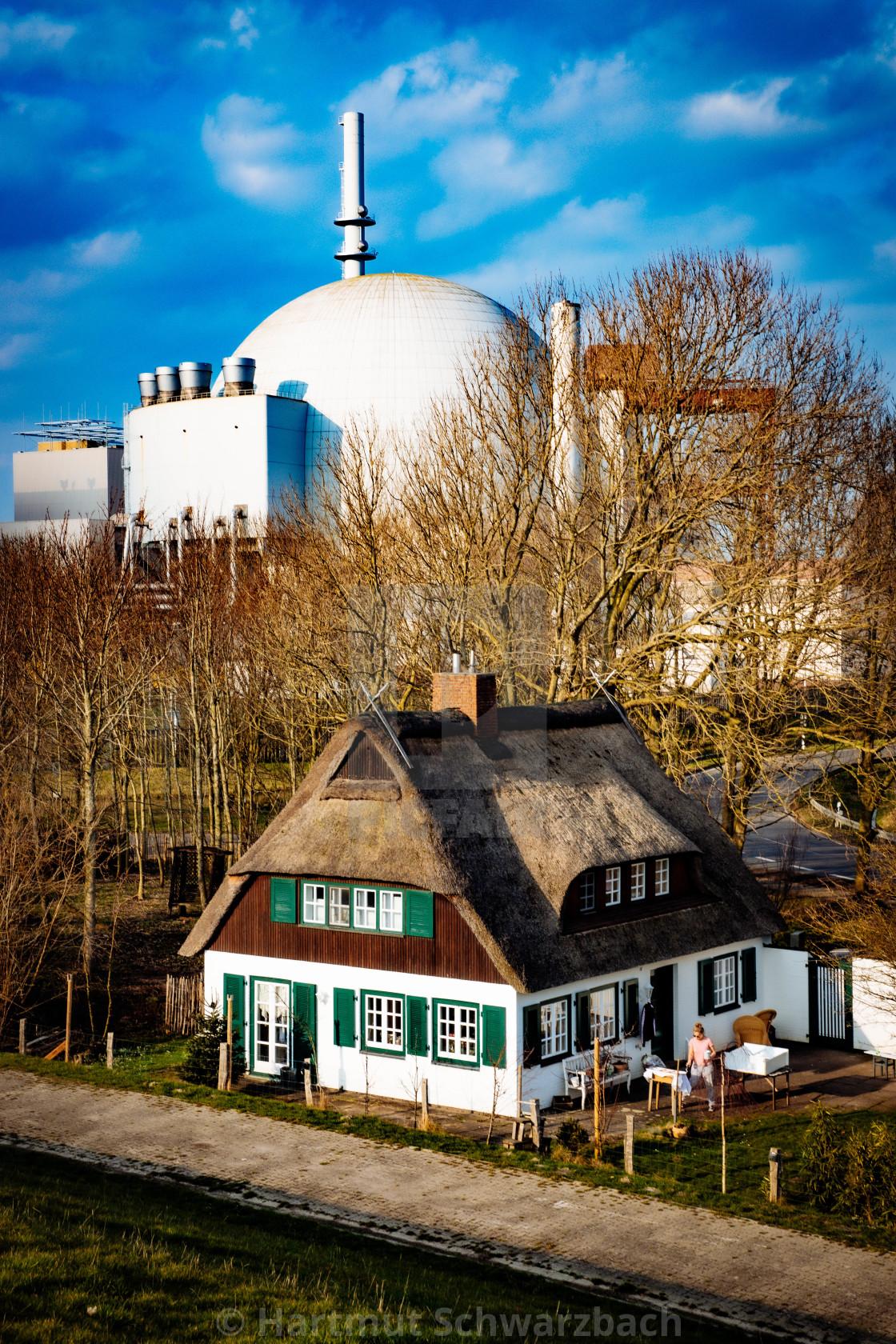 """AKW Brokdorf - Nuclear Power Plant"" stock image"